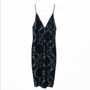 Windsor Blue Floral Print Bodycon Dress Size Small